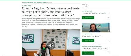 Entrevista Rossana Reguillo onda cero